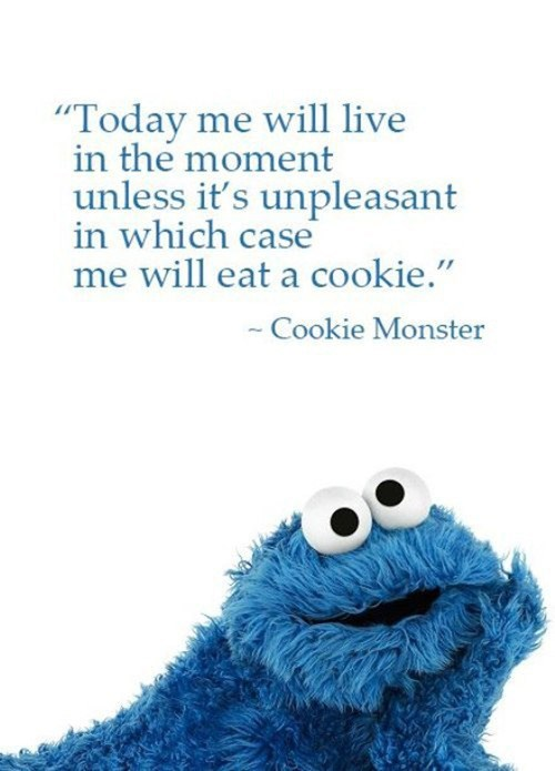 Cookie Monster Sesame Street cartoons sorta