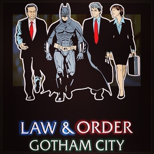 batman,gotham city,mashup,law and order