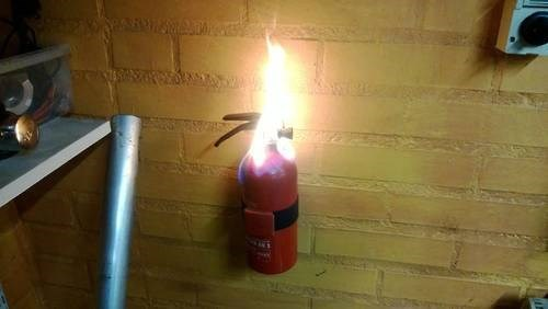 fire extinguisher,irony,fire