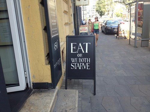 clever restaurant sign - 7979321344