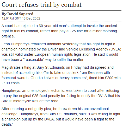duel court law Probably bad News news fail nation