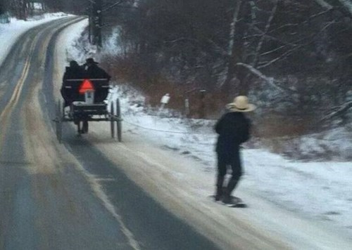amish,snowboarding,winter