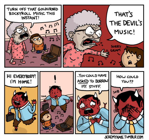 devils rock and roll Music web comics - 7979337984