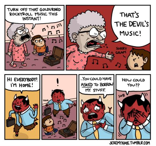 devils rock and roll Music web comics - 7979337984