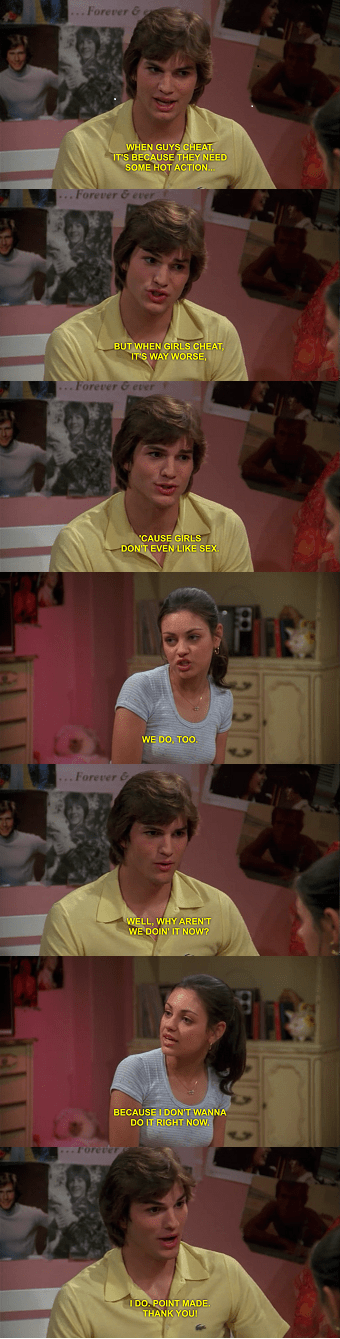cheating,that 70s show
