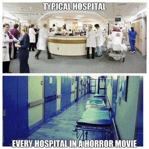 hospitals,horror movies