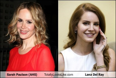 lana del ray,totally looks like,sarah paulson