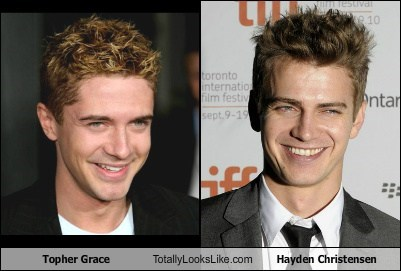 topher grace,totally looks like,hayden christensen
