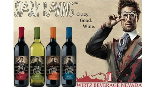 funny wine tony stark stark raving - 7980364800