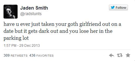 goth parody twitter jaden smith dating g rated - 7980427264