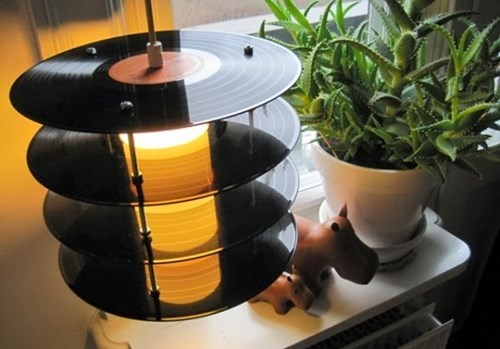 design,lamp,vinyl,records