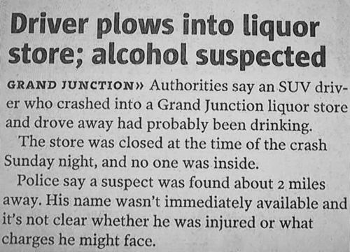 alcohol cars headline newspaper