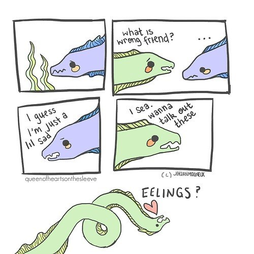 feels eels puns web comics