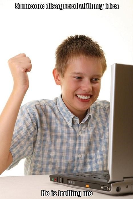 internet noob kid the internets trolling Memes