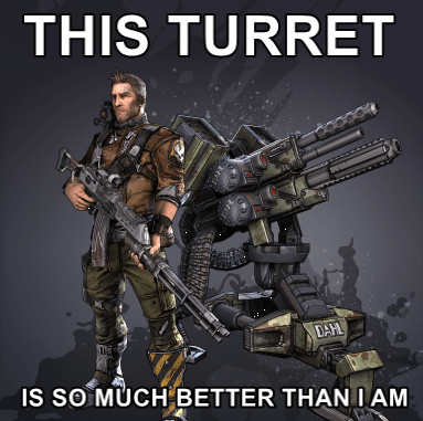 borderlands 2 gamers turrets