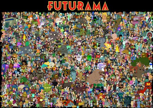cartoons futurama - 7980561152