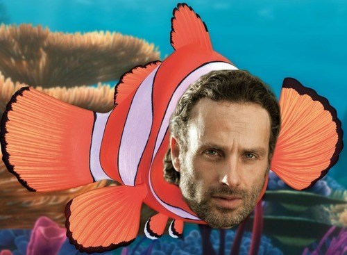 crossover,cartoons,disney,finding nemo,pixar,The Walking Dead