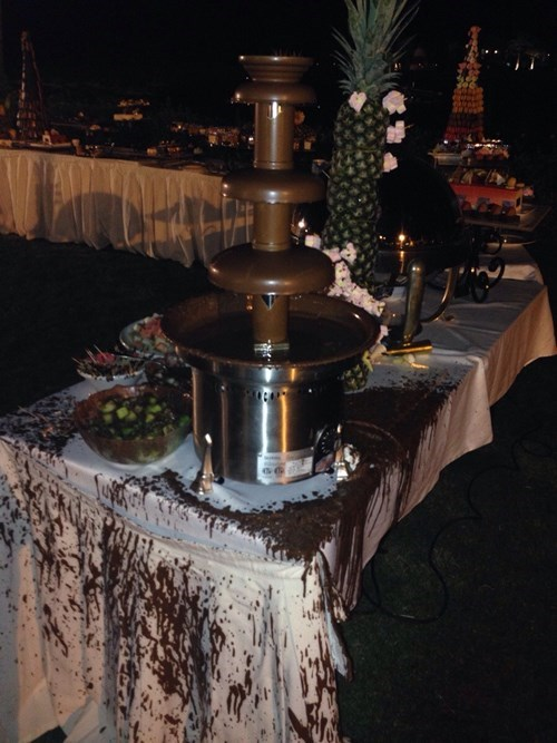 chocolate fountain,whoops,wind,g rated,fail nation