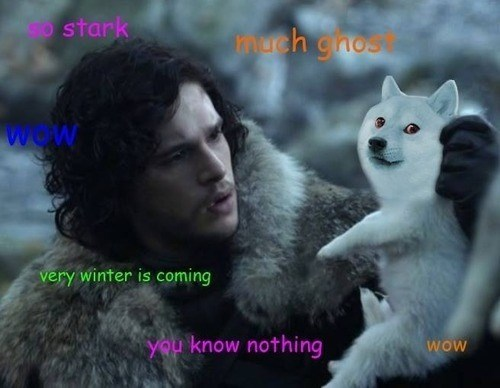 ghost Game of Thrones Jon Snow doge - 7980623104