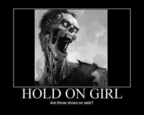 funny shoes zombie wtf - 7980650496