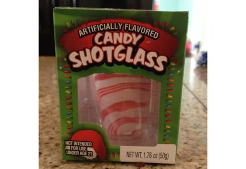 candy cane holiday funny shotglass - 7981468416