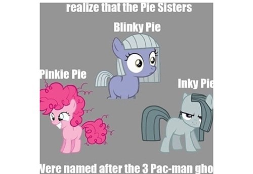ghosts,pinkie pie,pac man