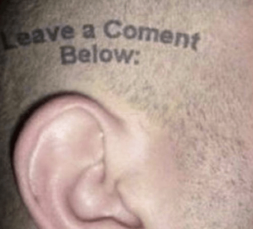 comments,ears,tattoos