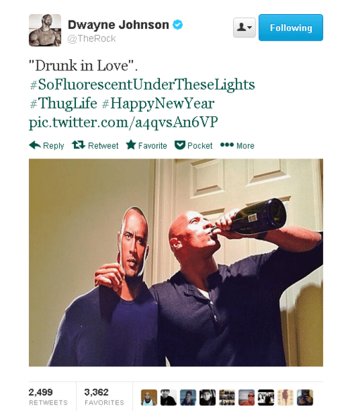 new years,the rock,celebrity twitter