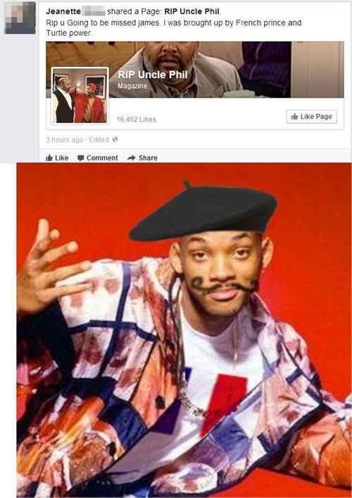 fresh prince spelling James Avery typo