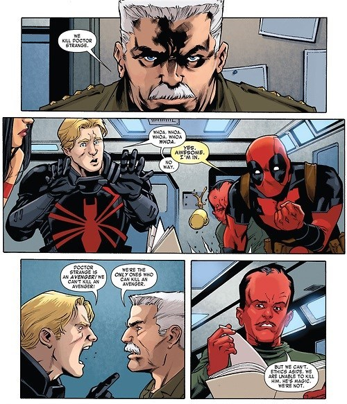 doctor strange deadpool Spider-Man off the page - 7981734656
