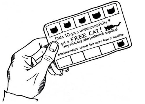crazy cat lady punch card comics Cats funny - 7981947904