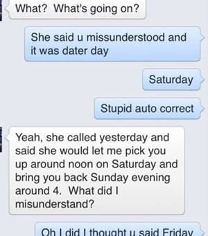 autocorrect saturday text - 7982285824
