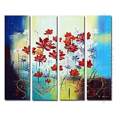 Peints à la main peinture à l'huile florale