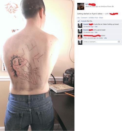 bad jesus wtf tattoos - 7982588160