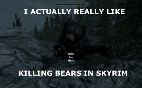 Confession Bear,Skyrim