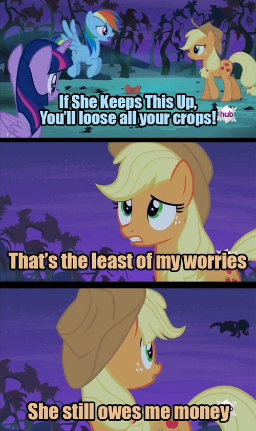 flutterbat,applejack,money