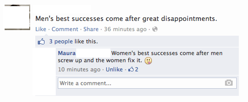 comeback,men vs women,zing