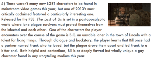 GLAAD LGBT the last of us what about gone home tho Video Game Coverage - 7982935808