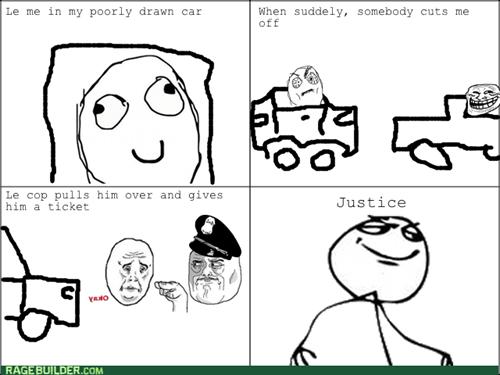 cops driving Okay im-watching-you trollface - 7982970880