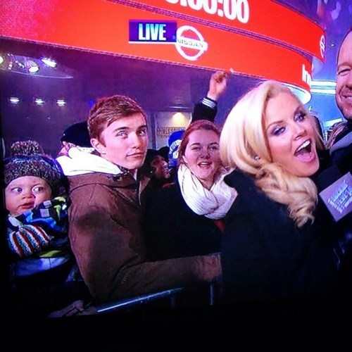 Babies,photobomb,new years eve,jenny mccarthy