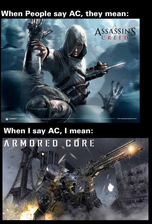 assassins creed,armored core