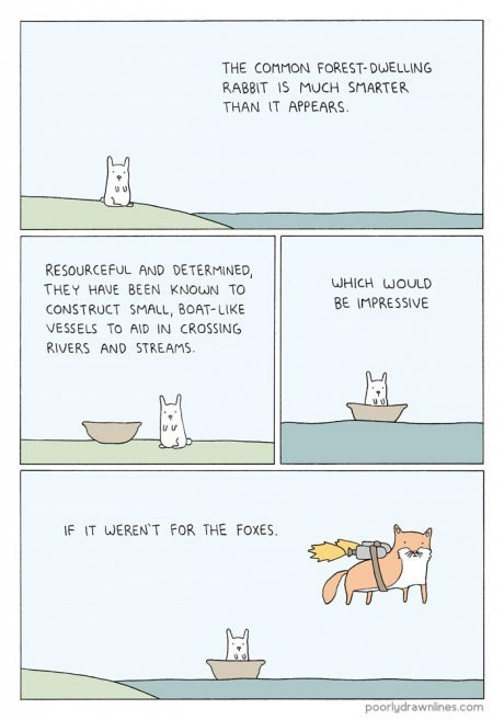 animals foxes nature rabbits web comics - 7983015424