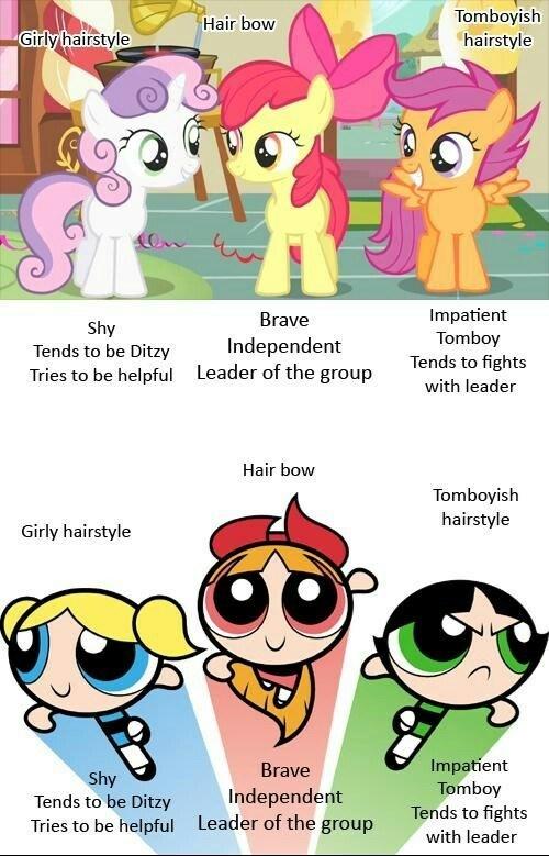 similarities cutie mark crusaders power puff girls - 7983078912