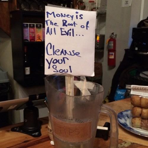 evil funny tip jar - 7983082752