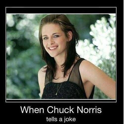 chuck norris kristen stewart funny joke - 7983186176