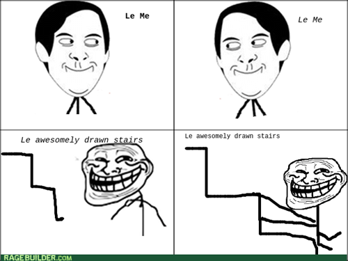 sliding trollface stairs - 7983309056