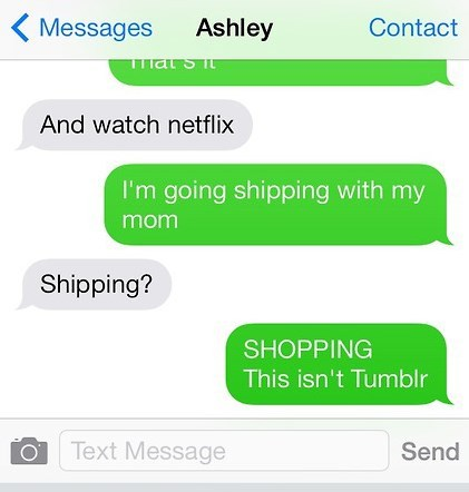 shipping autocorrect tumblr text