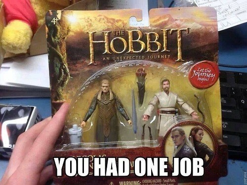 legolas obi-wan kenobi toys The Hobbit