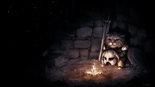 Sad Fan Art khajiit the elder scrolls