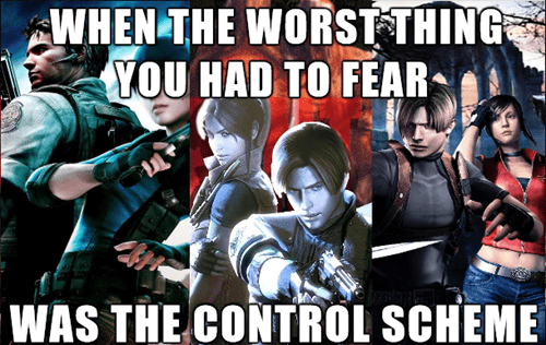 control schemes video games resident evil